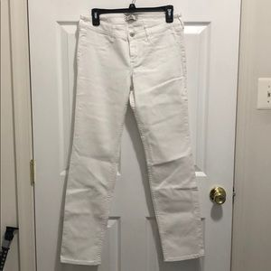 Hollister white jeans, size 9R